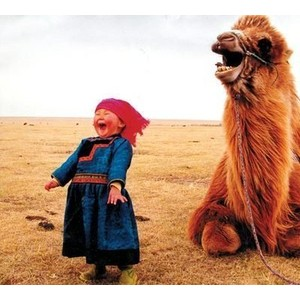 Mongolian girl with camel... makes my heart burst